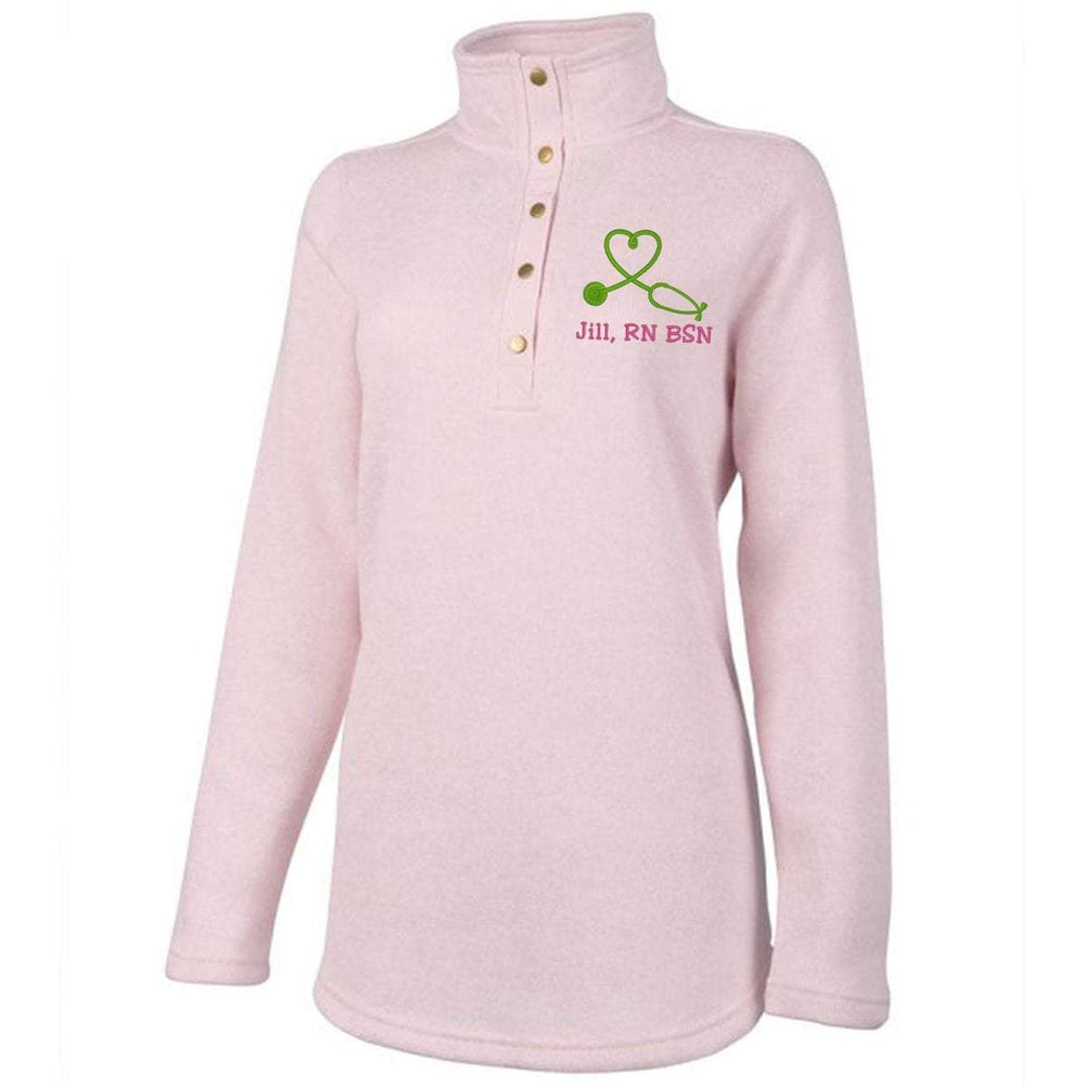 Charles River Apparel sweater XS / Pink Pale Heather 5932 | WOMEN'S HINGHAM TUNIC