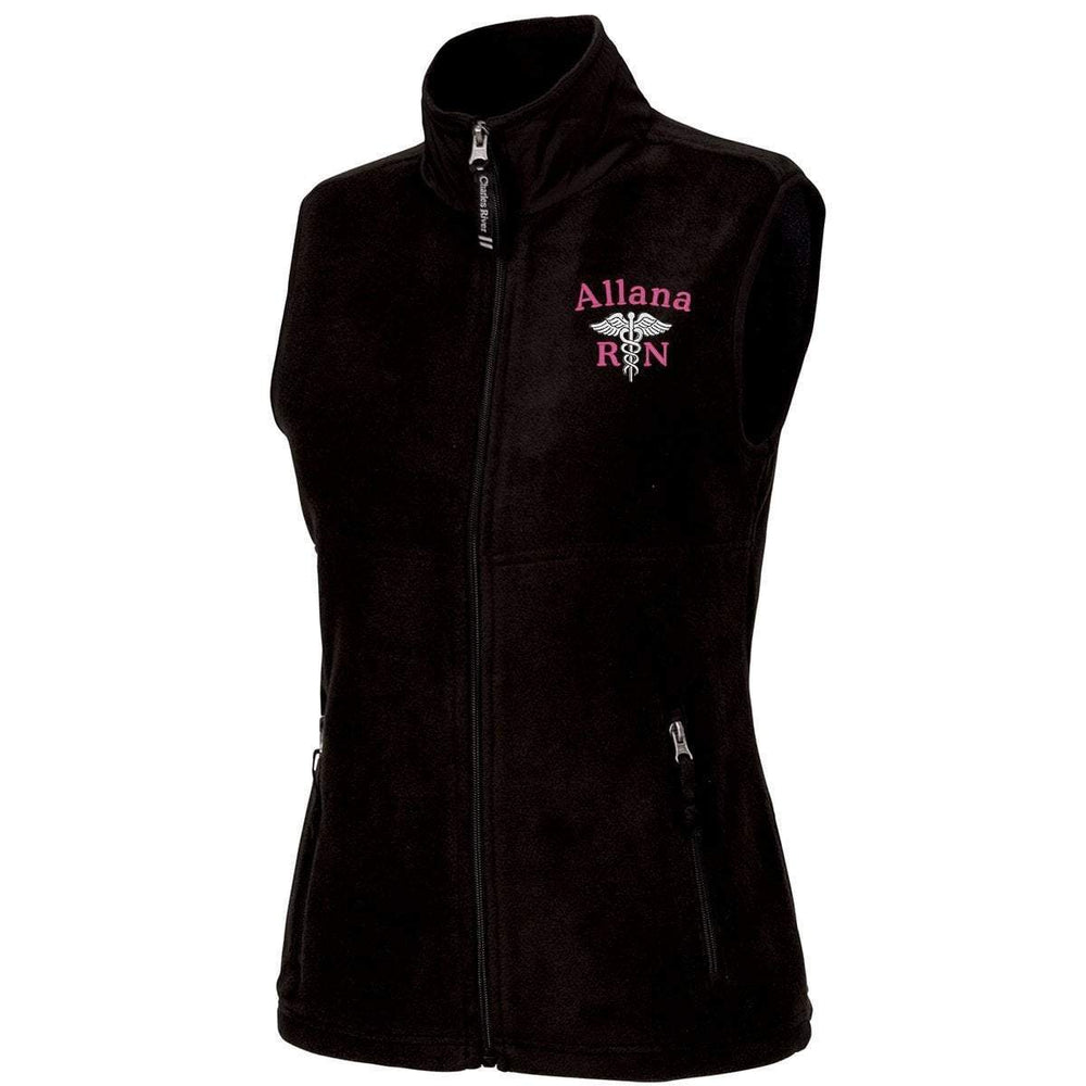 Charles River Apparel Vests BLACK / XS 5603 | Charles River Ladies Ridgeline Fleece Vest
