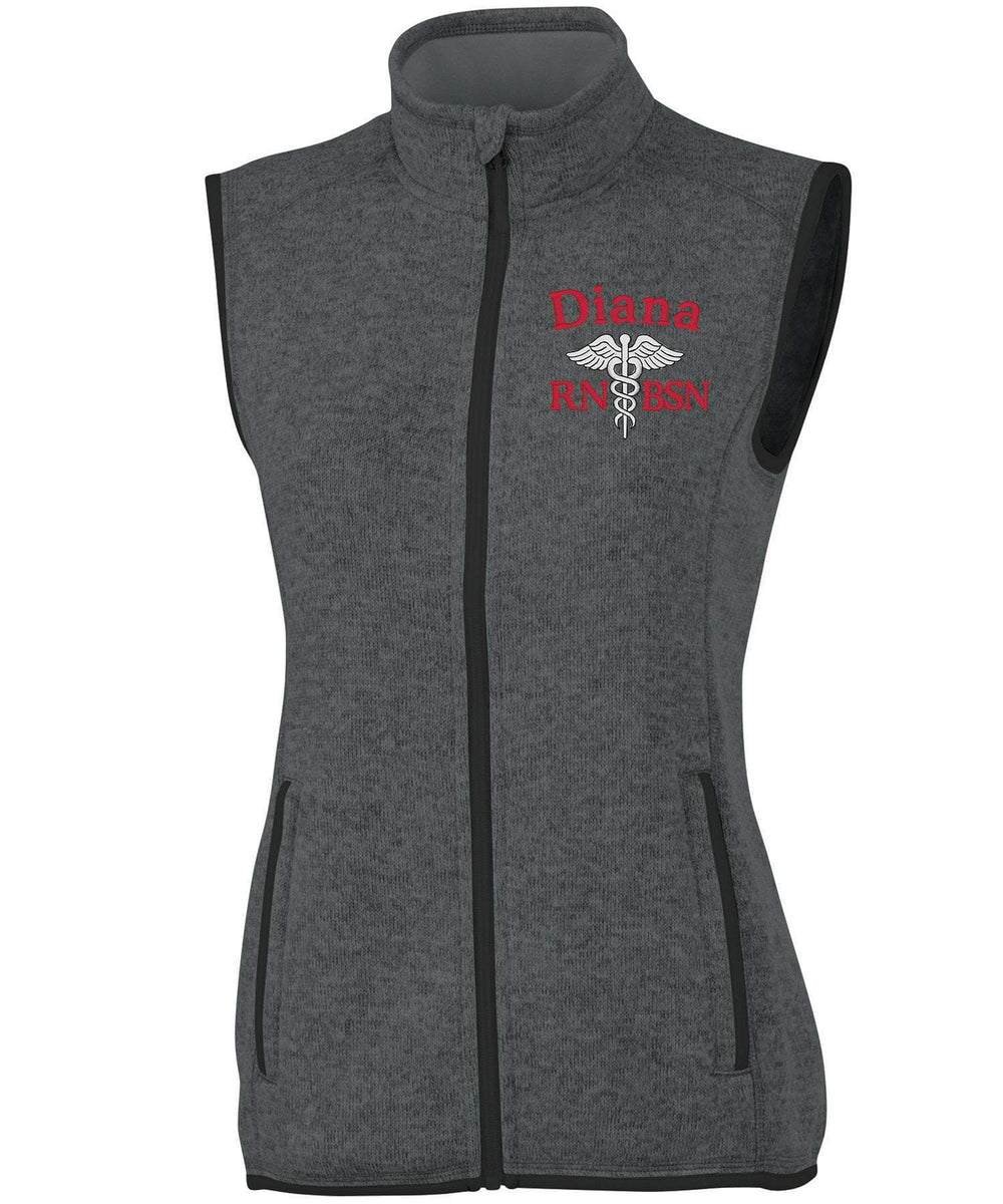 Charles River Apparel Vests Charcoal Heather / XS 5722 | WOMEN'S PACIFIC HEATHERED VEST