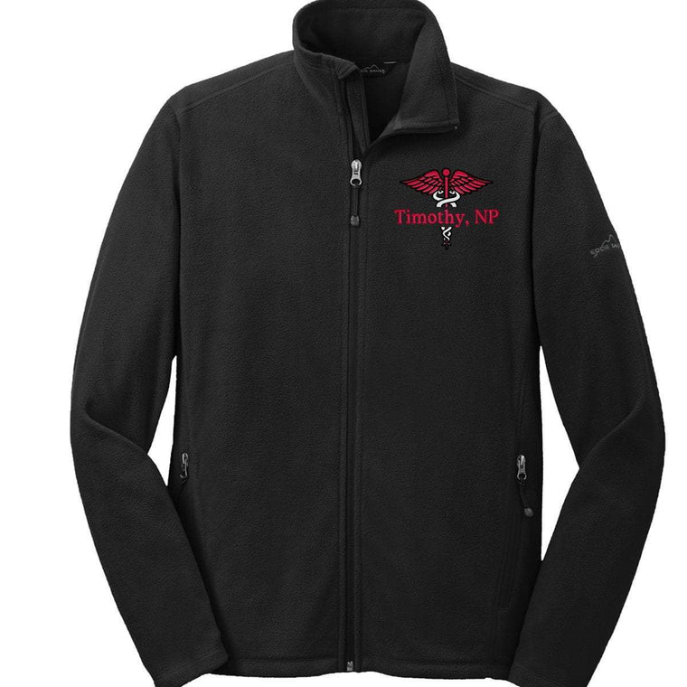 Eddie Bauer jacket Black / XS EB224 Eddie Bauer® Mens/Unisex Full-Zip Microfleece Jacket