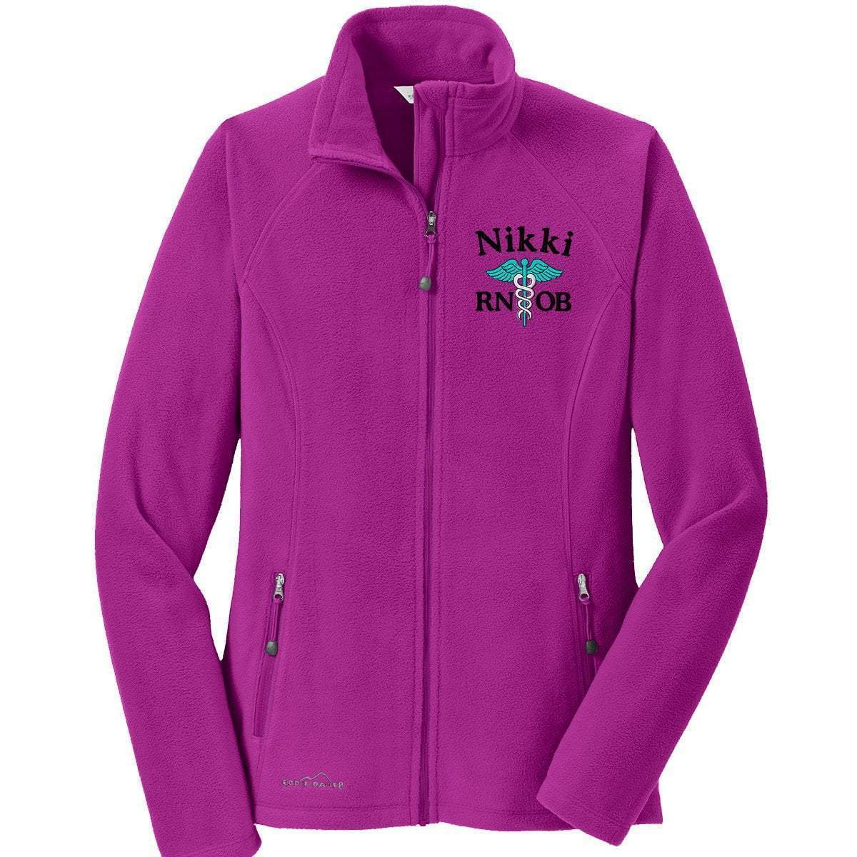 Eddie Bauer jacket Magenta / XS EB225 Eddie Bauer® Ladies Full-Zip Microfleece Jacket