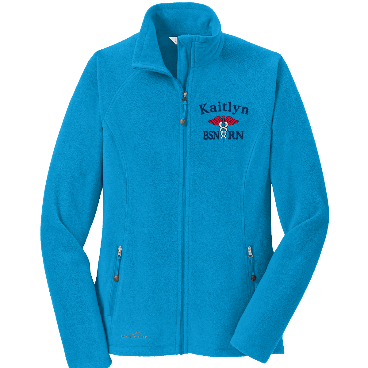 Eddie Bauer jacket Peak Blue / XS EB225 Eddie Bauer® Ladies Full-Zip Microfleece Jacket
