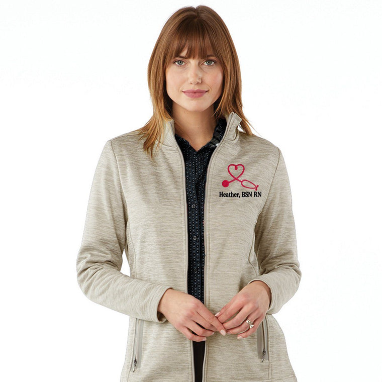 5189 |  Women's Brigham Knit Jacket |  Personalized Nurse Jacket