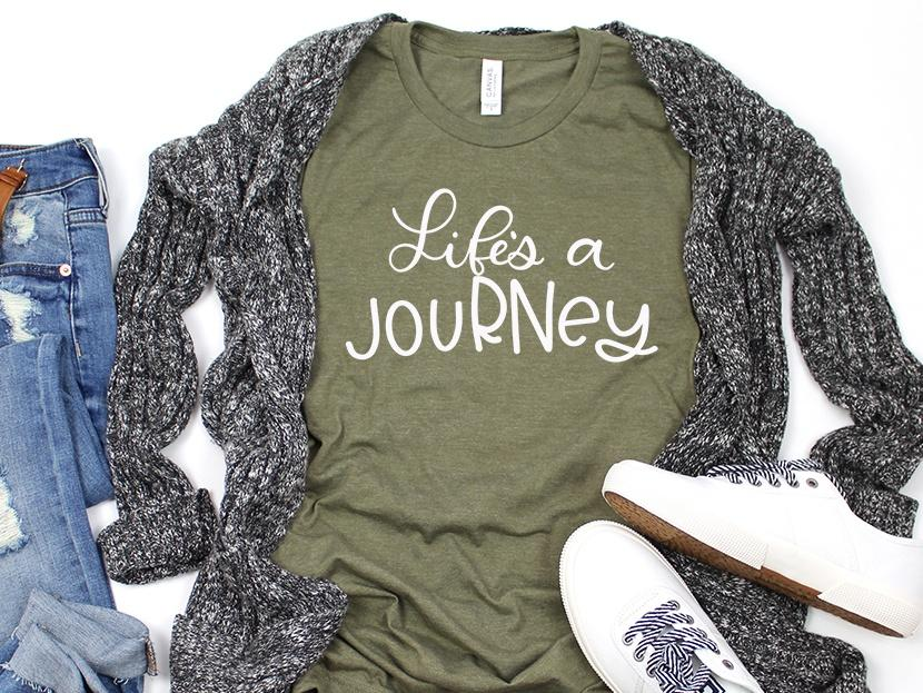 Life is a jouRNey Nurse Tee Shirt | Adult Bella Canvas