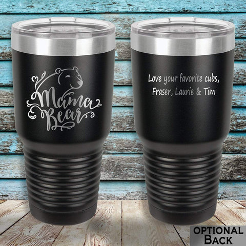 MacAttackGear Drinkware 30 ounce Tumbler / Black Mama Bear 30 ounce Personalized Tumbler