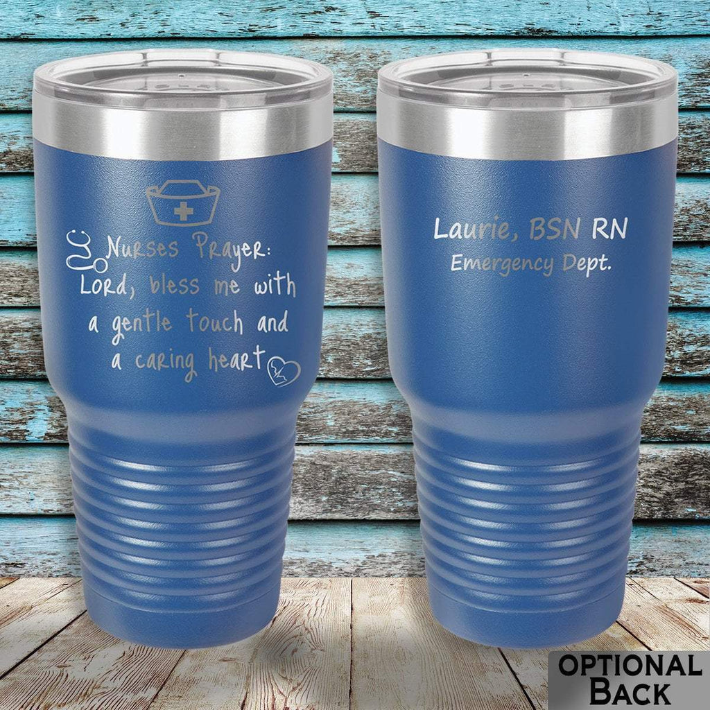 MacAttackGear Drinkware 30 ounce Tumbler / Blue Nurse Prayer Insulated Tumbler