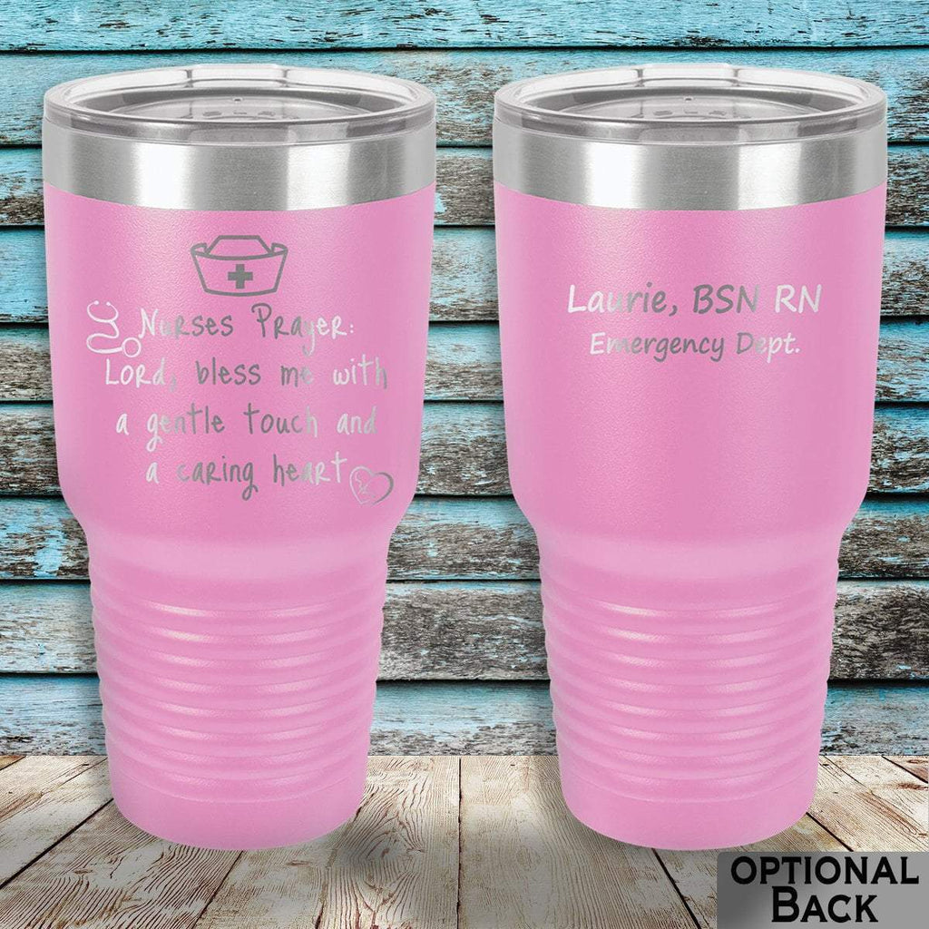 MacAttackGear Drinkware 30 ounce Tumbler / Light Purple Nurse Prayer Insulated Tumbler