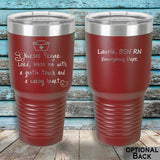 MacAttackGear Drinkware 30 ounce Tumbler / Maroon Nurse Prayer Insulated Tumbler