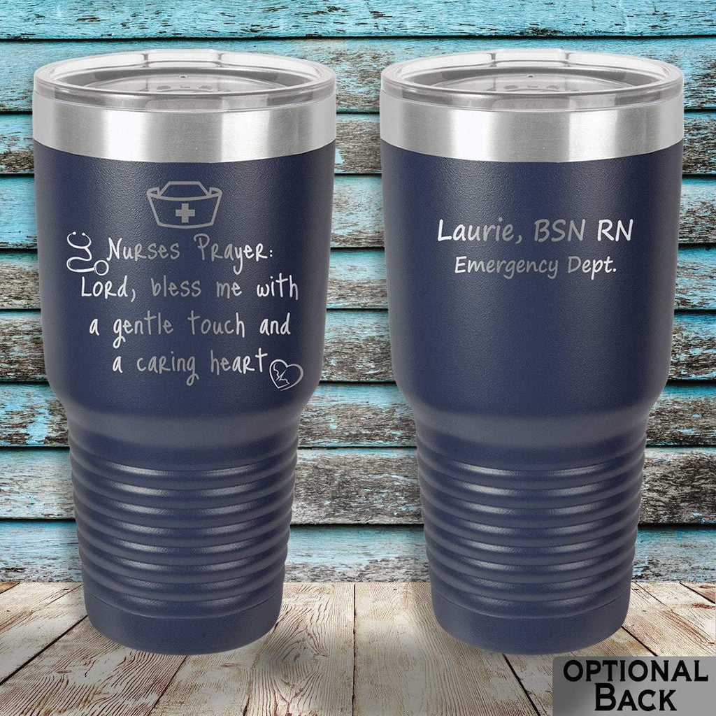 MacAttackGear Drinkware 30 ounce Tumbler / Navy Nurse Prayer Insulated Tumbler