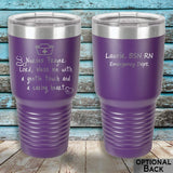 MacAttackGear Drinkware 30 ounce Tumbler / Purple Nurse Prayer Insulated Tumbler