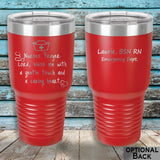 MacAttackGear Drinkware 30 ounce Tumbler / Red Nurse Prayer Insulated Tumbler