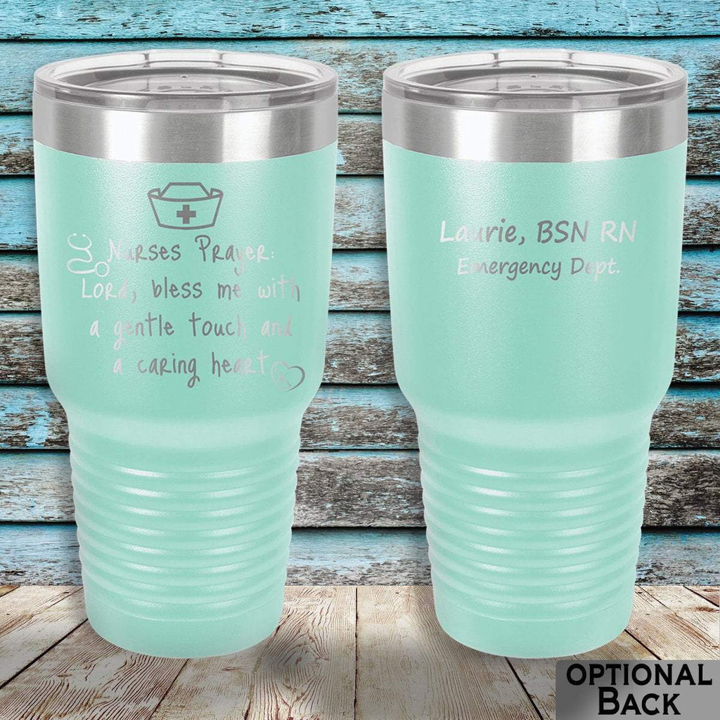 MacAttackGear Drinkware 30 ounce Tumbler / Teal Nurse Prayer Insulated Tumbler