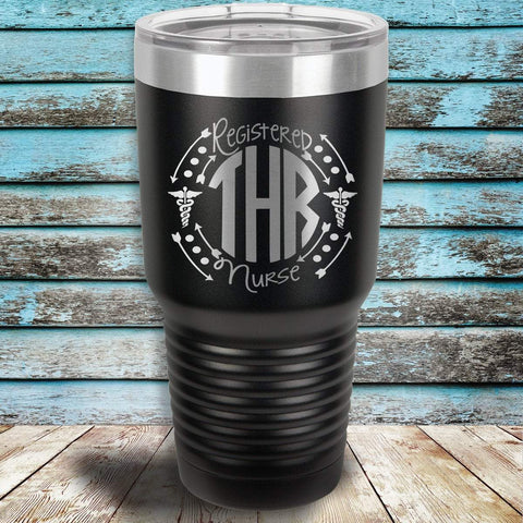 MacAttackGear Drinkware Black RN Monogrammed Personalized Tumbler