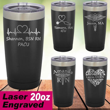 MacAttackGear Drinkware Personalized 20 ounce Nurse Tumbler