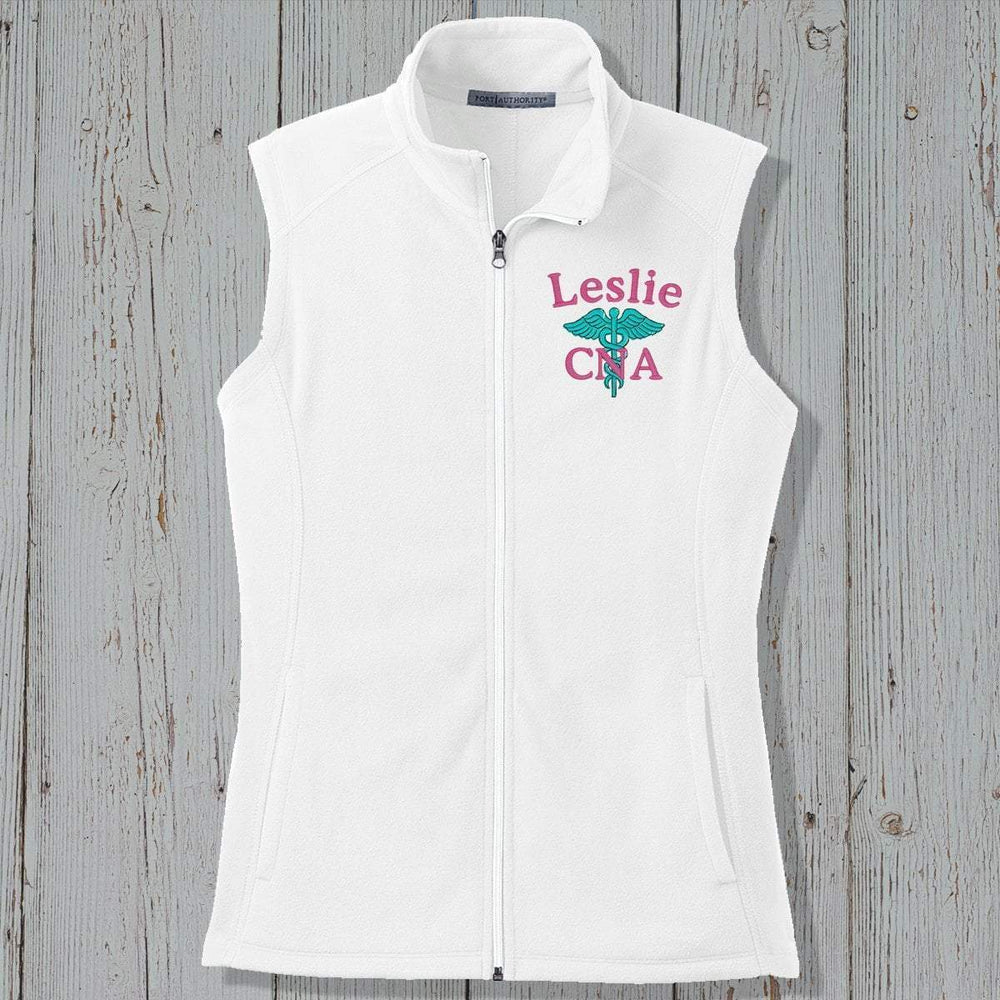 MacAttackGear vests WHITE / XS L226 | Ladies Microfleece Vest