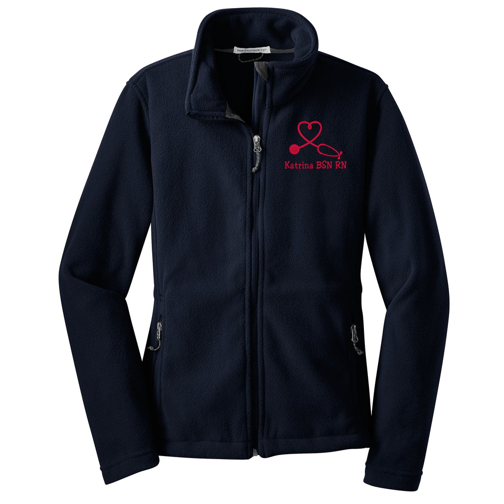 L217 | Ladies Personalized Fleece  Nurse Jacket