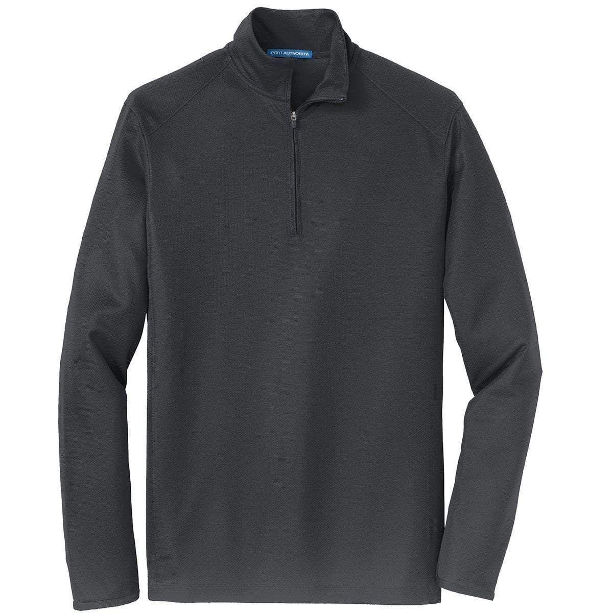 Port Authority 1/4 Zip Pullovers Battleship Grey / XS K806 | Port Authority® Unisex/Mens Pinpoint Mesh 1/2-Zip