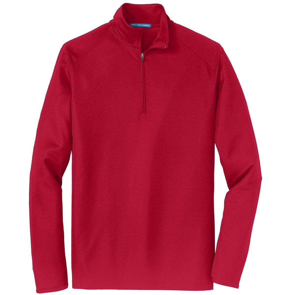 Port Authority 1/4 Zip Pullovers Red / XS K806 | Port Authority® Unisex/Mens Pinpoint Mesh 1/2-Zip