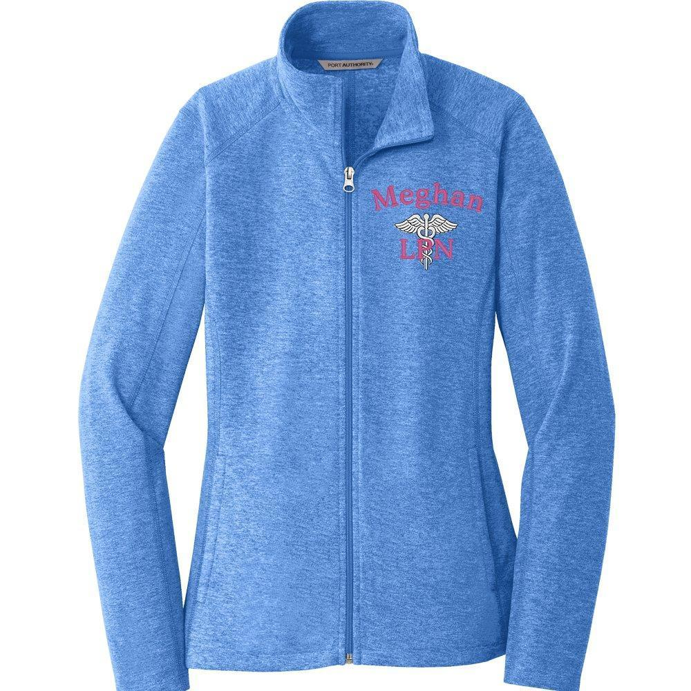 Port Authority jacket Light Royal Heather / XS L235 | Ladies  Heathered Microfleece Jacket