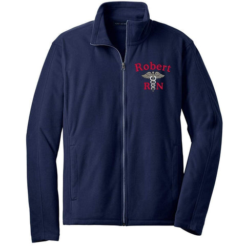 Port Authority jackets Navy / Small F223 | Unisex Microfleece Jacket by Port Authority