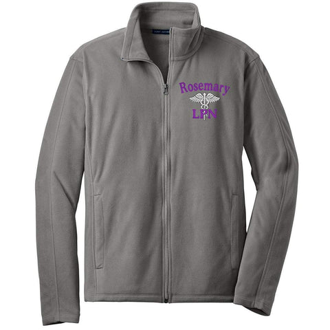 Port Authority jackets Pearl Grey / Small F223 | Unisex Microfleece Jacket by Port Authority