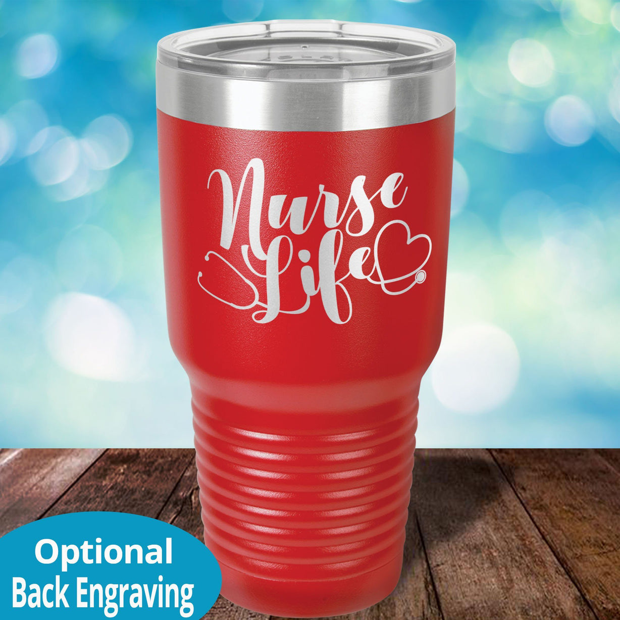 Personalized Laser Etched Tumbler |   Nurse Life