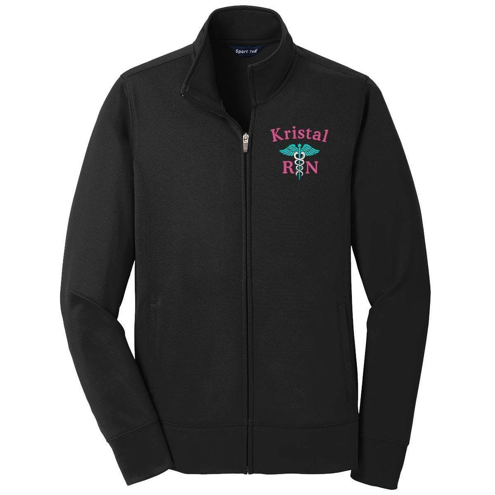 Sport-Tek jacket Black / XS LST241 | Customized Ladies Sport-Wick® Fleece Full-Zip Jacket