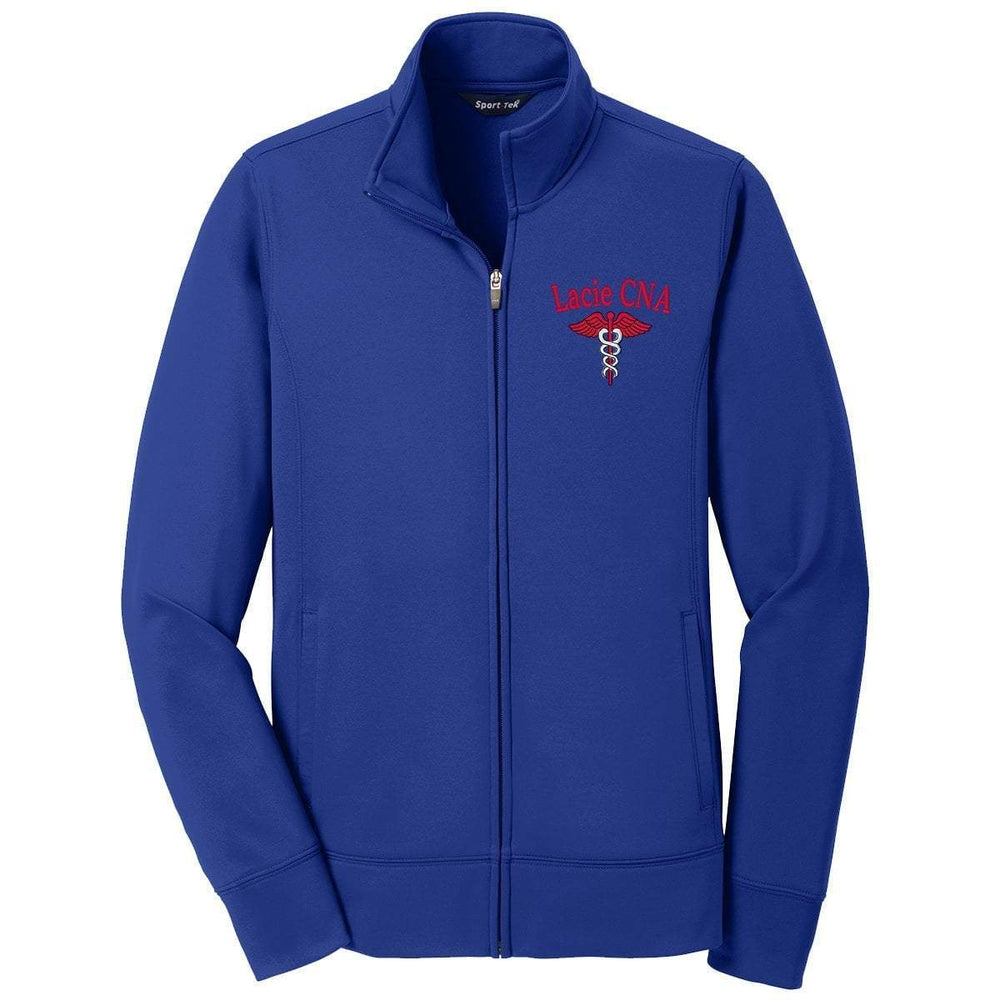 Sport-Tek jacket Royal / XS LST241 | Customized Ladies Sport-Wick® Fleece Full-Zip Jacket