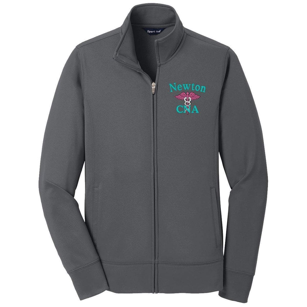 Sport-Tek jacket Stone Grey / XS LST241 | Customized Ladies Sport-Wick® Fleece Full-Zip Jacket