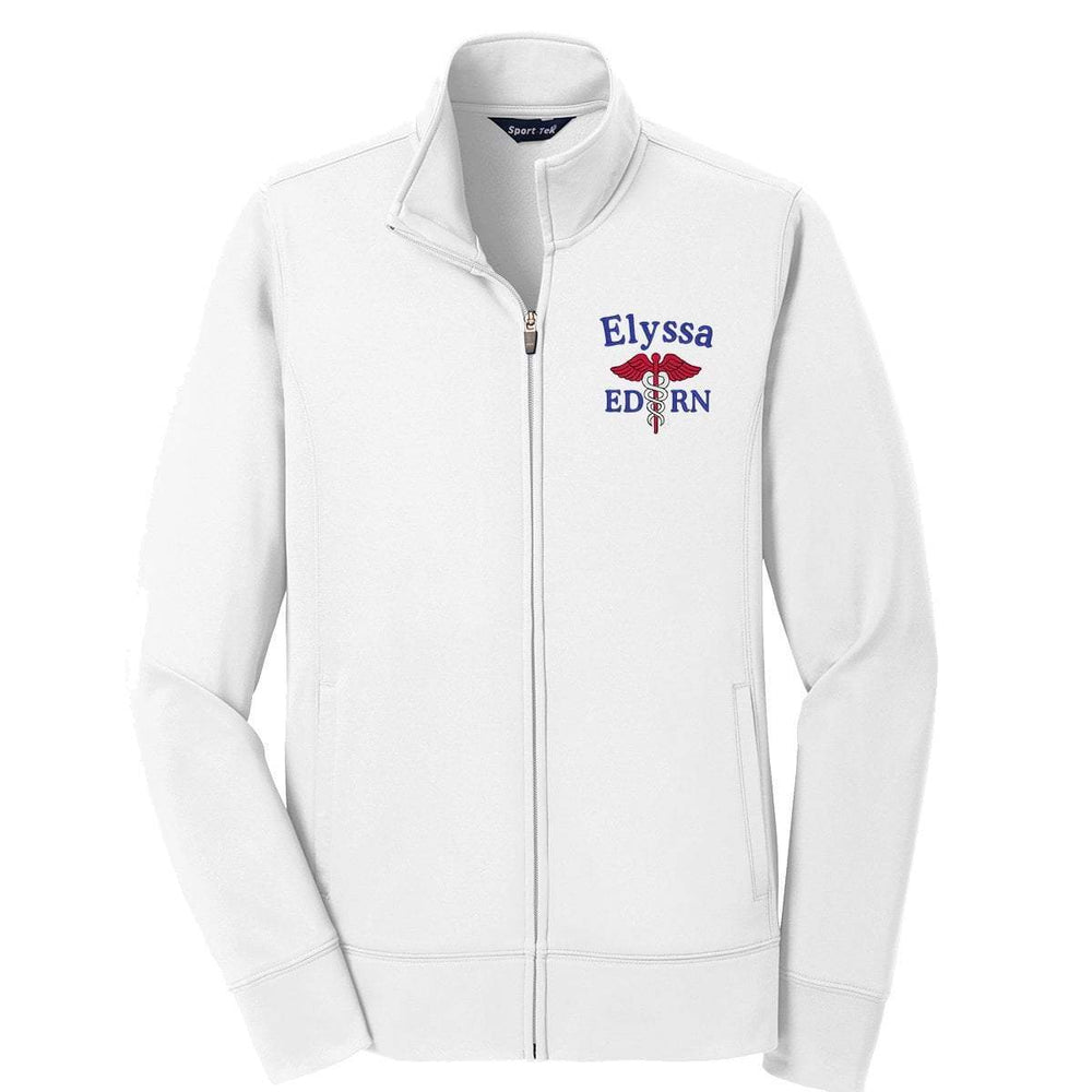 Sport-Tek jacket White / XS LST241 | Customized Ladies Sport-Wick® Fleece Full-Zip Jacket