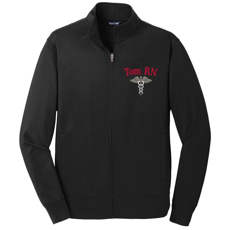 Sport-Tek jackets Black / Small ST241 | Customized Unisex Sport-Wick® Fleece Full-Zip Jacket
