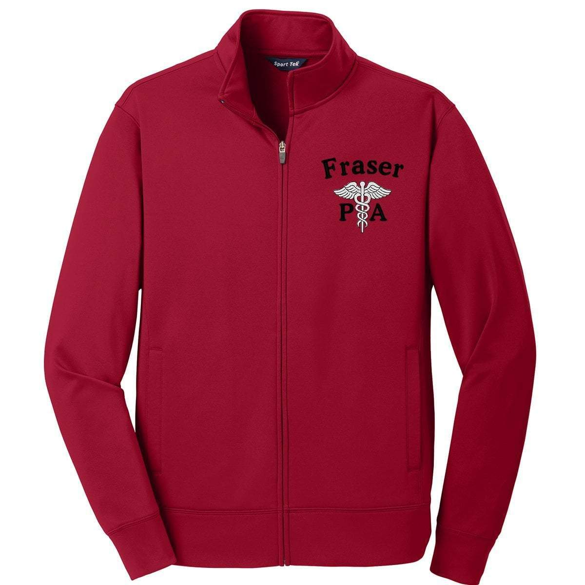 Sport-Tek jackets Red / Small ST241 | Customized Unisex Sport-Wick® Fleece Full-Zip Jacket