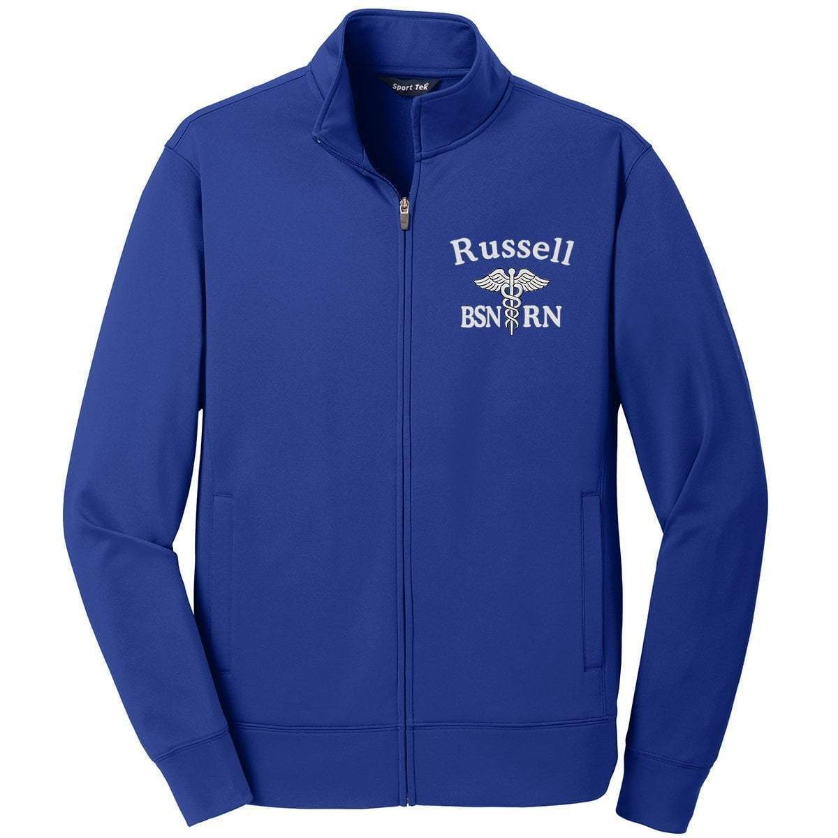 Sport-Tek jackets Royal / Small ST241 | Customized Unisex Sport-Wick® Fleece Full-Zip Jacket