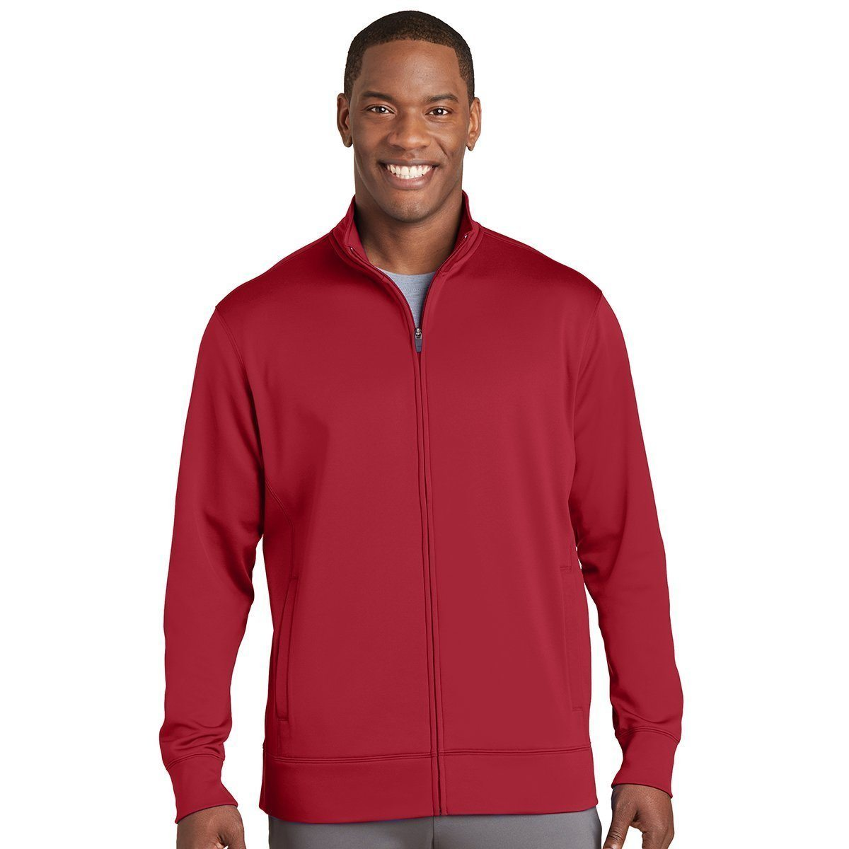 Sport-Tek jackets ST241 | Customized Unisex Sport-Wick® Fleece Full-Zip Jacket