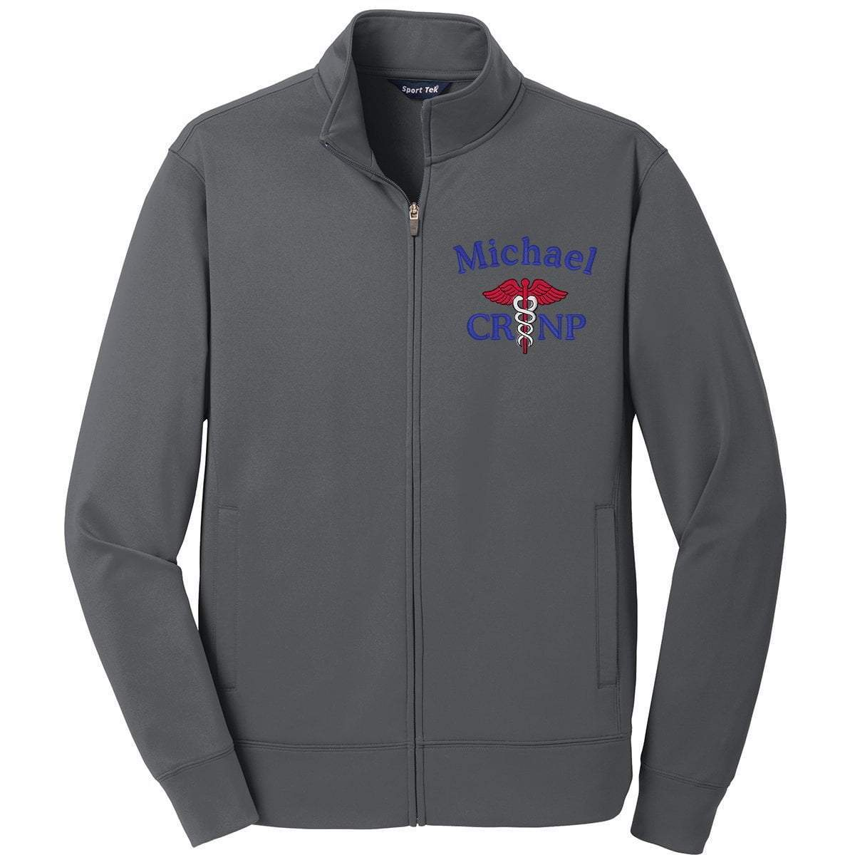 Sport-Tek jackets Stone Grey / Small ST241 | Customized Unisex Sport-Wick® Fleece Full-Zip Jacket