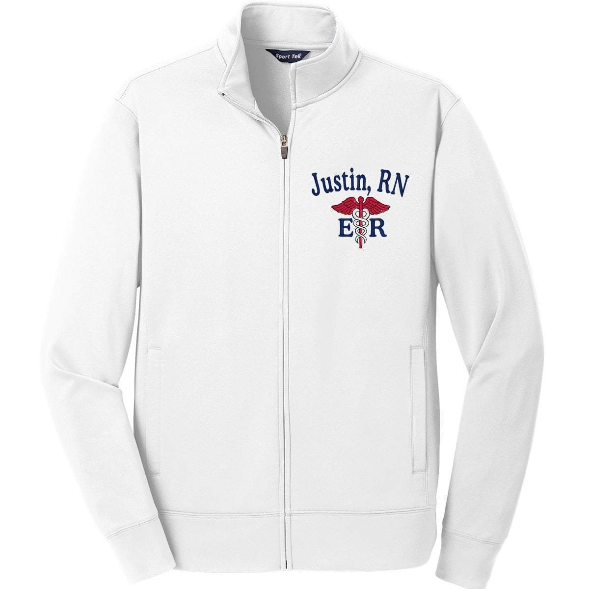 Sport-Tek jackets White / Small ST241 | Customized Unisex Sport-Wick® Fleece Full-Zip Jacket