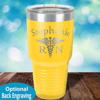 Nurse Caduceus laser etched tumbler