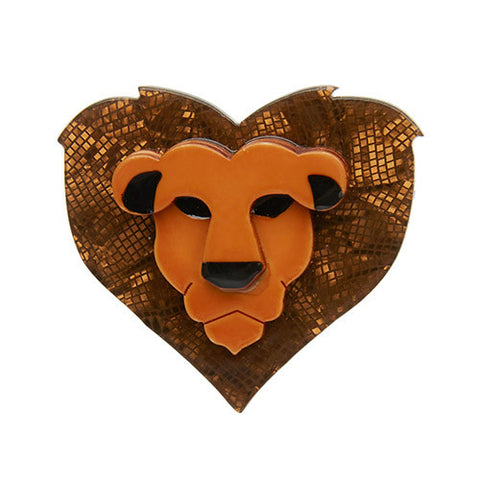 Erstwilder Lionheart Brooch Lion King Disney - Bad Betty Couture Australia Online Shopping store Pinup girl Clothing Rockabilly Retro Vintage Inspired