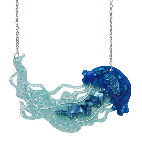 Erstwilder Slippin' Under Jellyfish Necklace Brooch  - Bad Betty Couture Australia Online Shopping store Pinup girl Clothing Rockabilly Retro Vintage Inspired  Ocean Vibes