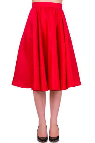 Banned Apparel Miracles Red Skirt -  Bad Betty Couture Australia Online Shopping store Pinup girl Rockabilly Retro