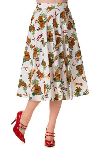 Banned Apparel Tiki Dreamer Skirt - Bad Betty Couture Australia Online Shopping store Pinup girl Rockabilly Retro