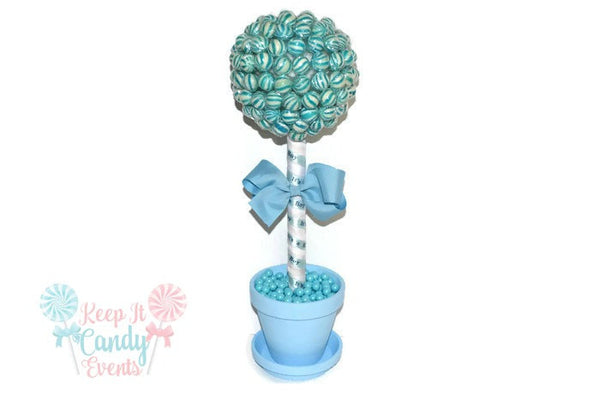 Blue Lollipop Baby Shower Topiary