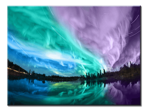 """Northern Lights"", 1 Panel Canvas Wall Art In L And XL Sizes"