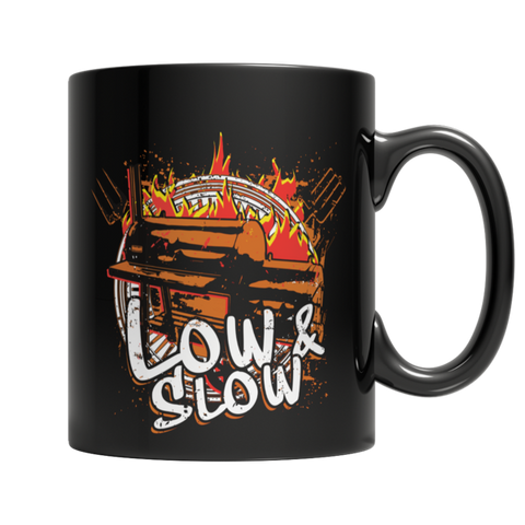 """Low & Slow"" 11 Oz. Black Coffee Mug"
