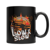 """Low & Slow"", 11 Oz. Black Coffee Mug"