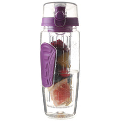 32 Oz, BPA-Free, Purple-Colored Fruit-Infusing Water Bottle
