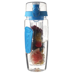 32 Oz, BPA-Free, Blue-Colored Fruit-Infusing Water Bottle