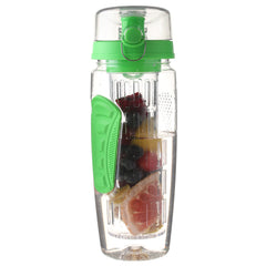 32 Oz, BPA-Free, Green-Colored Fruit-Infusing Water Bottle