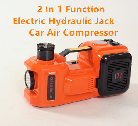 5 Ton, Electric Hydraulic Jack Plus Air Compressor For SUVs And Cars