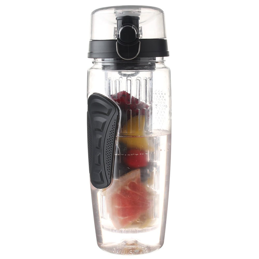 32 Oz, BPA-Free, Black-Colored Fruit-Infusing Water Bottle